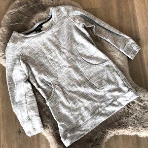 Le Chateau Heather Grey Sweater Tunic